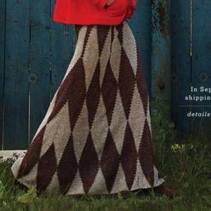 Anthropologie Cecilia Prado Knit Argyles Skirt